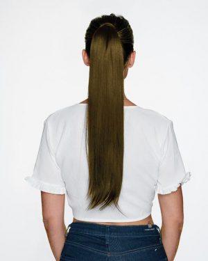 human Hair Ash Brown Ponytail
