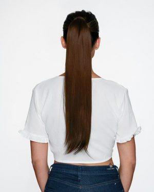 Human Hair Chocolate Brown Ponytail