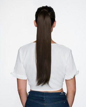 Human Hair Dark Brown Ponytail