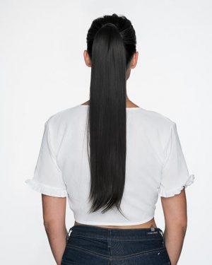 Human Hair Jet Black Ponytail