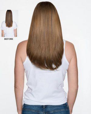 Human Hair ash brown halo hair extensions