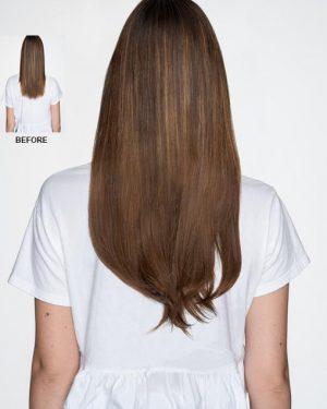 Human Hair chocolate brown halo hair extensions