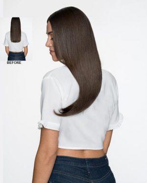 Human Hair dark brown halo hair extensions
