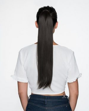 Human Hair off black ponytails