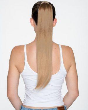human hair ponytail blonde
